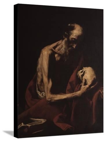 St. Jerome in Meditation-Jusepe de Ribera-Stretched Canvas Print
