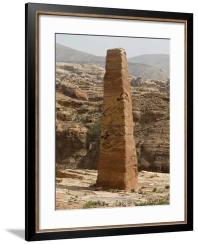 Obelisk on Attuf Ridge, Petra, Jordon. 1st C. B.C. Carved Rock, 6 Metres High--Framed Art Print