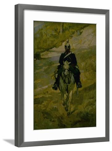 Soldier on Horseback-Giovanni Fattori-Framed Art Print