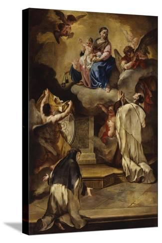 Madonna of the Carmelo-Francesco Polazzo-Stretched Canvas Print