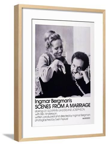 Scenes from a Marriage, Liv Ullmann, Erland Josephson, 1973--Framed Art Print