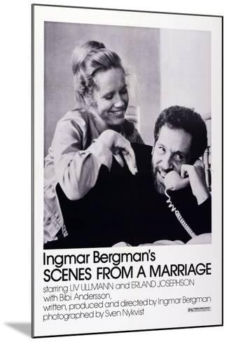 Scenes from a Marriage, Liv Ullmann, Erland Josephson, 1973--Mounted Art Print