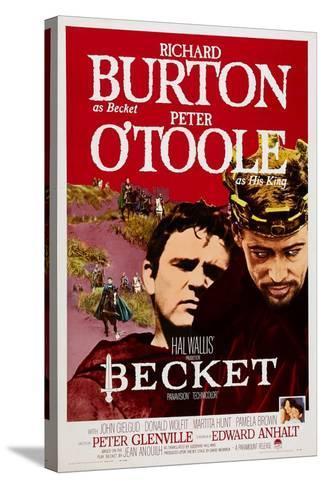 Becket, Richard Burton, Peter O'Toole, 1964--Stretched Canvas Print