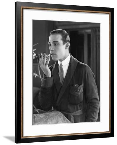 Beyond the Rocks, Rudolph Valentino, 1922--Framed Art Print