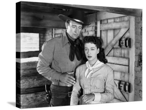 Angel and the Badman, John Wayne, Gail Russell, 1947--Stretched Canvas Print