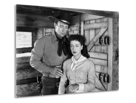 Angel and the Badman, John Wayne, Gail Russell, 1947--Metal Print
