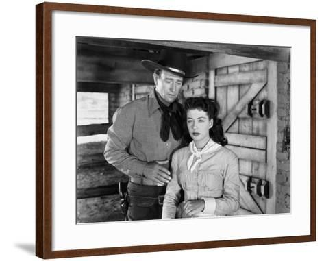 Angel and the Badman, John Wayne, Gail Russell, 1947--Framed Art Print