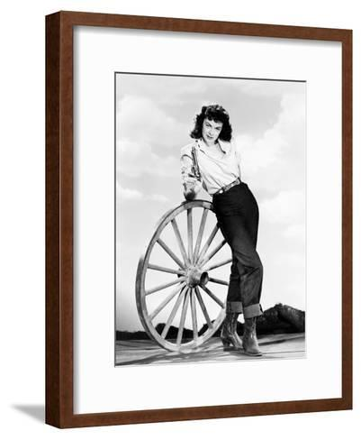 Relentless, Marguerite Chapman, 1948--Framed Art Print