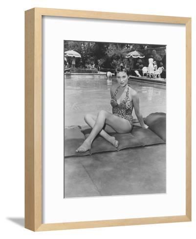 The Racers, Bella Darvi, 1955--Framed Art Print