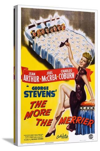 The More the Merrier, Jean Arthur, 1943--Stretched Canvas Print