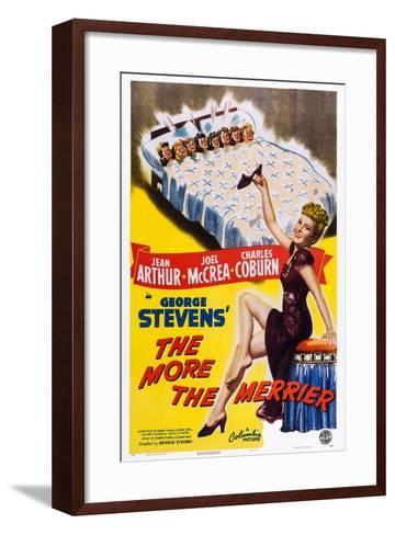 The More the Merrier, Jean Arthur, 1943--Framed Art Print
