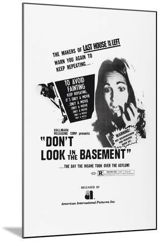 Don't Look in the Basement, 1973--Mounted Art Print