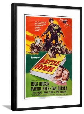Battle Hymn, Bottom from Left: Rock Hudson, Martha Hyer, 1957--Framed Art Print