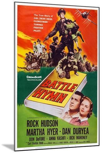Battle Hymn, Bottom from Left: Rock Hudson, Martha Hyer, 1957--Mounted Art Print