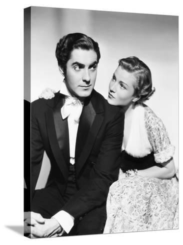 Suez, from Left: Tyrone Power, Annabella, 1938--Stretched Canvas Print