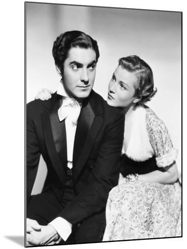Suez, from Left: Tyrone Power, Annabella, 1938--Mounted Photo