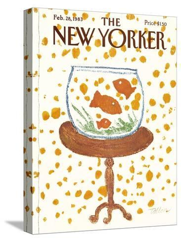 The New Yorker Cover - February 28, 1983-Robert Tallon-Stretched Canvas Print