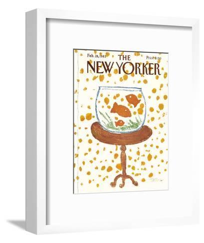 The New Yorker Cover - February 28, 1983-Robert Tallon-Framed Art Print