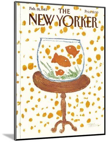 The New Yorker Cover - February 28, 1983-Robert Tallon-Mounted Premium Giclee Print
