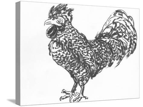 Cock Sketch-jim80-Stretched Canvas Print