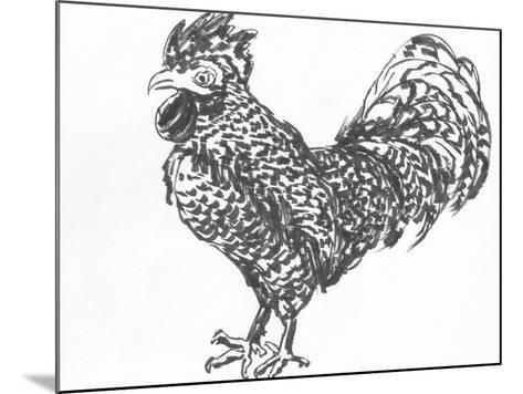 Cock Sketch-jim80-Mounted Art Print