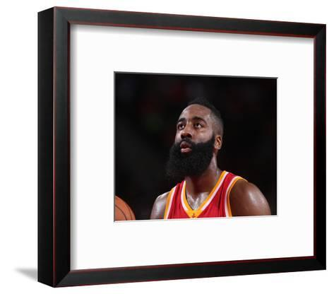 Houston Rockets v Portland Trail Blazers-Sam Forencich-Framed Art Print