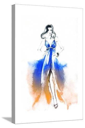 Woman in Dress-Anna Ismagilova-Stretched Canvas Print