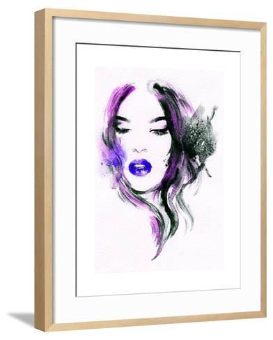 Abstract Watercolor .Woman Portrait-Anna Ismagilova-Framed Art Print