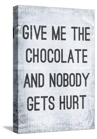 Vintage Poster GIVE ME THE CHOCOLATE-Jusakas-Stretched Canvas Print