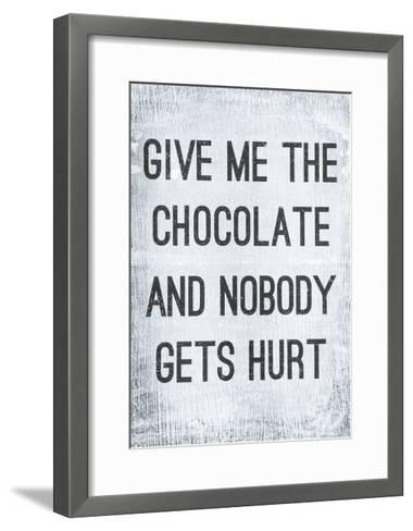 Vintage Poster GIVE ME THE CHOCOLATE-Jusakas-Framed Art Print