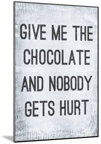 Vintage Poster GIVE ME THE CHOCOLATE-Jusakas-Mounted Art Print