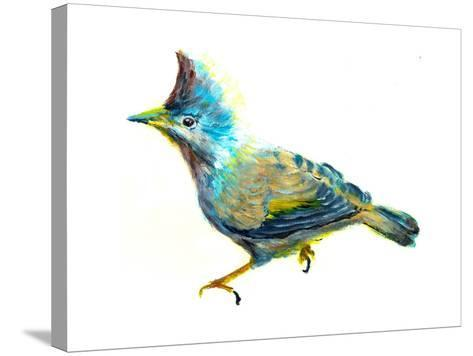 Oil Painting Bird-jim80-Stretched Canvas Print