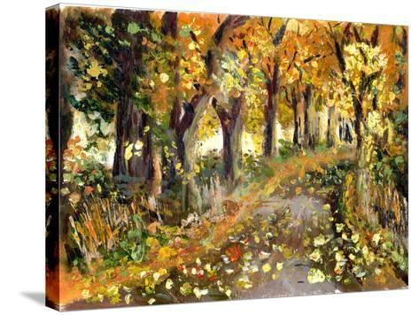 Oil Painting Forest-jim80-Stretched Canvas Print