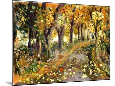 Oil Painting Forest-jim80-Mounted Art Print