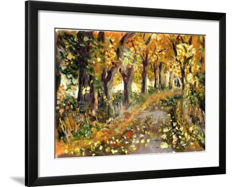 Oil Painting Forest-jim80-Framed Art Print