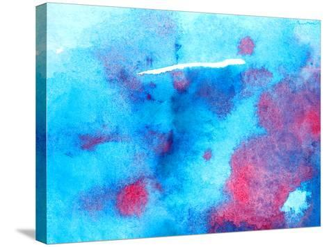 Watercolor Background Texture-jim80-Stretched Canvas Print