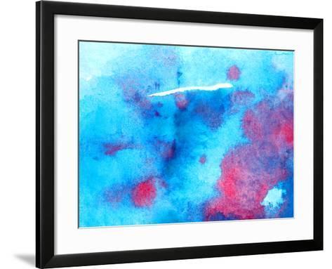 Watercolor Background Texture-jim80-Framed Art Print