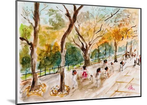 Watercolor Forest Garden-jim80-Mounted Art Print