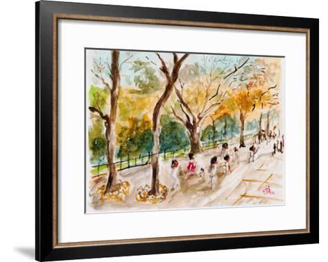 Watercolor Forest Garden-jim80-Framed Art Print