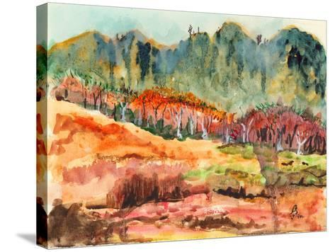 Watercolor Forest-jim80-Stretched Canvas Print
