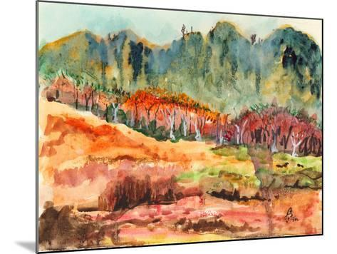 Watercolor Forest-jim80-Mounted Art Print