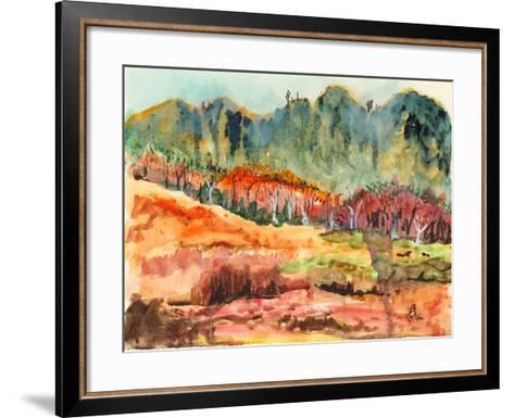 Watercolor Forest-jim80-Framed Art Print