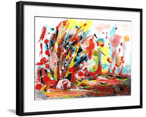 Hand Draw Abstract Paint-jim80-Framed Art Print