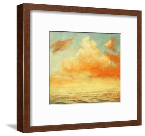 Sea Landscape, Illustration, Painting by Oil on a Canvas-Mikhail Zahranichny-Framed Art Print