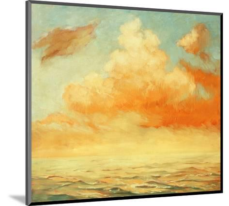 Sea Landscape, Illustration, Painting by Oil on a Canvas-Mikhail Zahranichny-Mounted Art Print