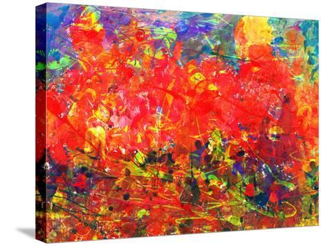 Childs Abstract Painting-Alexey Kuznetsov-Stretched Canvas Print
