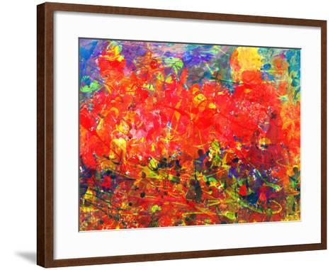 Childs Abstract Painting-Alexey Kuznetsov-Framed Art Print