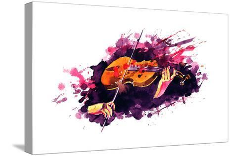 Violin-okalinichenko-Stretched Canvas Print