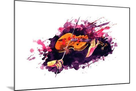 Violin-okalinichenko-Mounted Art Print