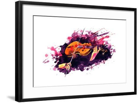 Violin-okalinichenko-Framed Art Print